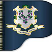 Grand Piano Connnecticut Flag Art Print