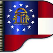Grand Piano Georgia Flag Art Print