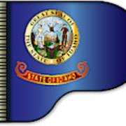 Grand Piano Idaho Flag Art Print