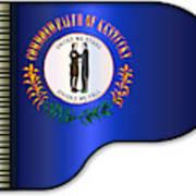 Grand Piano Kentucky Flag Art Print