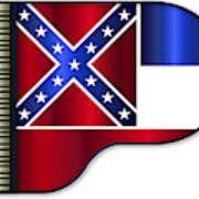Grand Piano Mississippi Flag Art Print