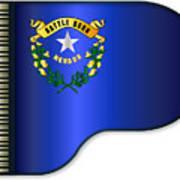 Grand Piano Nevada Flag Art Print