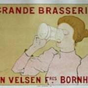 Grande Brasserie, 1894 Belgian Vintage Brewery Poster Art Print