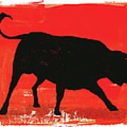 Graphic Bull Illustration Art Print