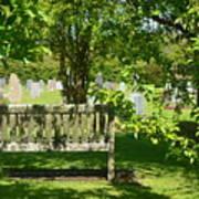 Graveyard Bench Art Print