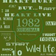 Green 1982 Original Art Print