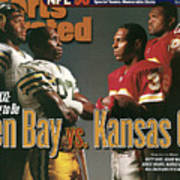 Green Bay Packers And Kansas City Chiefs, 1996 Nfl Football Sports Illustrated Cover Art Print