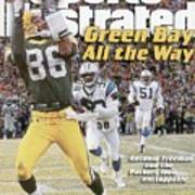 Green Bay Packers Antonio Freeman, 1997 Nfc Championship Sports Illustrated Cover Art Print
