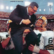 Green Bay Packers Coach Vince Lombardi, Super Bowl II Sports Illustrated Cover Art Print