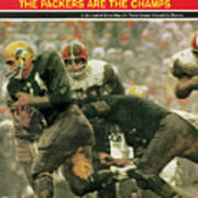 Green Bay Packers Jimmy Taylor, 1966 Nfl Championship Sports Illustrated Cover Art Print