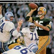 Green Bay Packers Qb Bart Starr, 1967 Nfl Championship Sports Illustrated Cover Art Print