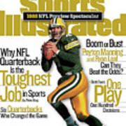 Green Bay Packers Qb Brett Favre, 1998 Nfl Football Preview Sports Illustrated Cover Art Print