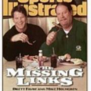 Green Bay Packers Qb Brett Favre And Coach Mike Holmgren Sports Illustrated Cover Art Print
