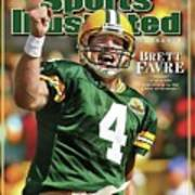 Green Bay Packers Qb Brett Favre Special Tribute Edition Sports Illustrated Cover Art Print