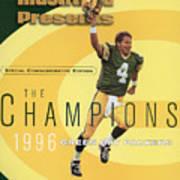 Green Bay Packers Qb Brett Favre, Super Bowl Xxxi Sports Illustrated Cover Art Print