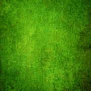 Green Grunge Background Art Print