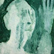 Green Portrait Art Print