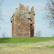 Greenknowe Tower Ruin Art Print
