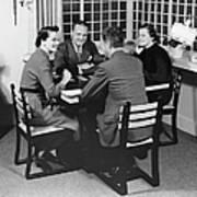 Group At A Table Art Print