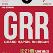 Grr Grand Rapids Luggage Tag II Art Print