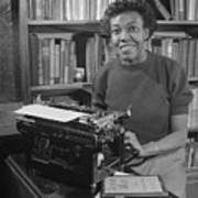 Gwendolyn Brooks With Typewriter Art Print