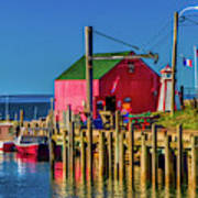 Halls Harbour Nova Scotia Art Print