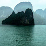 Halong Bay Mountains, Vietnam Art Print