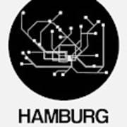 Hamburg Black Subway Map Art Print