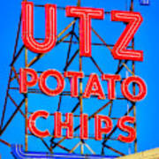 Hanover Pa Skyline - Utz Potato Chips No. 1 - Carlisle Street Art Print