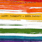 Happy Thoughts Rainbow- Art By Linda Woods Art Print