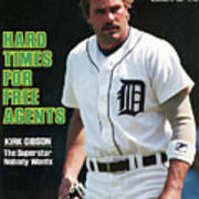 Hard Times For Free Agents Kirk Gibson, The Superstar Sports Illustrated Cover Art Print
