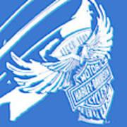 Harley Davidson Tank Logo Abstract Artwork Art Print