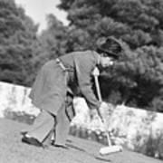 Harpo Marx Playing Croquet Art Print