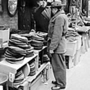 Harry Kregman, Owner Of Hats & Caps, At Art Print