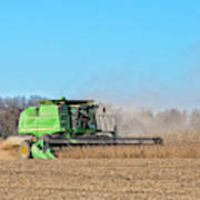Harvesting Soybeans Art Print
