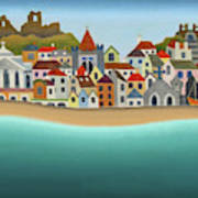 Hastings From The Sea Art Print