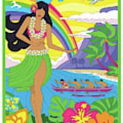 Hawaii Poster - Pop Art - Travel Art Print