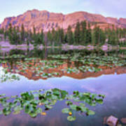 Hayden Peak And Butterfly Lake, Uinta Art Print