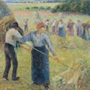 Haymaking At Eragny, 1891 Art Print