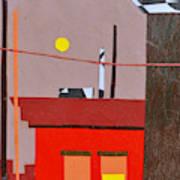 Hazy Rooftops 2 Art Print