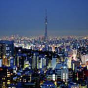 Hazy Skyline With Tokyo Sky Tree Art Print