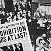 Headline Declaring The End Of Prohibition, 6th December, 1933 Art Print