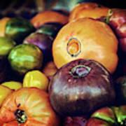 Heirloom Tomatoes At The Farmers Market Art Print