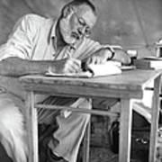 Hemingway On Safari Art Print