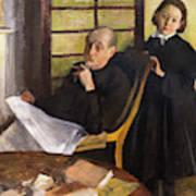 Henri Degas And His Niece Lucie Degas Art Print