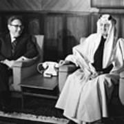 Henry Kissinger With King Faisal Art Print