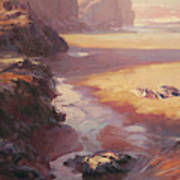 Hidden Path To The Sea Art Print