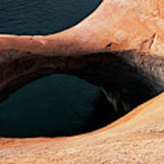 High Angle View Of A Pothole Arch Art Print