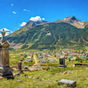 Hillside Cemetery Of Silverton Colorado Art Print