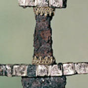 Hilt Of A Viking Sword Found At Hedeby, Denmark, 9th Century Art Print